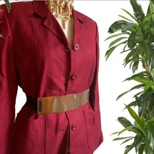 Vintage Burgundy Red Blazer